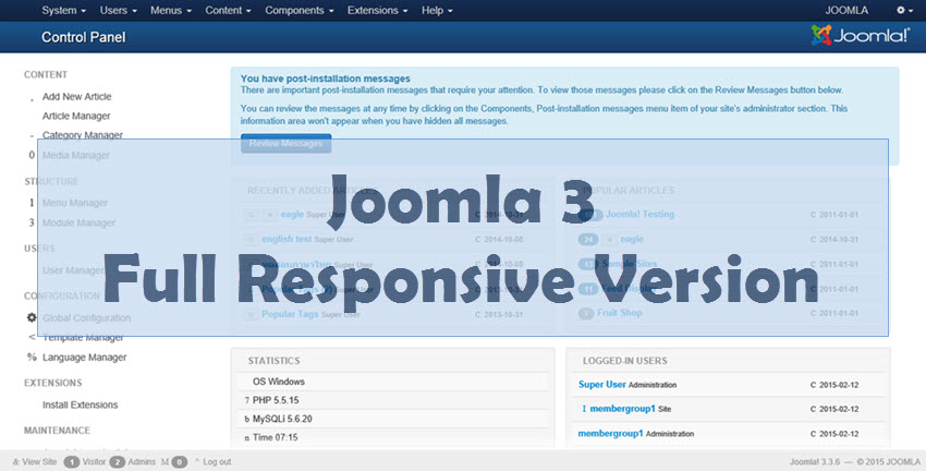 JOOMLA 3 Web Design